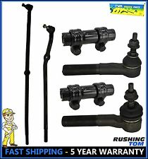 00-02 Dodge Ram 1500 2500 3500 4WD 6 Pc Kit Front Inner & Outer Tie Rod End