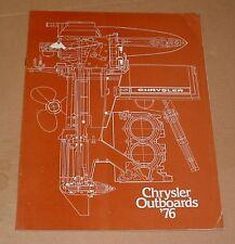 1976 Chrysler Outboards Sales Brochure