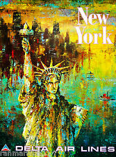 Statue of Liberty New York United States America Travel Advertisement Poster 9