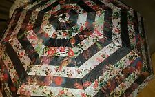 "NWT Nicole Miller New York Victorian Printed Fashion Umbrella Large 42"" Coverage"