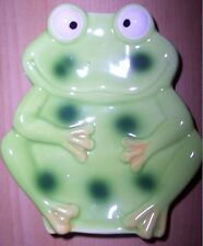 Kids New Cute/Silly Bathroom Counter Ceramic Green Frog Soap Holder/Dish Unique