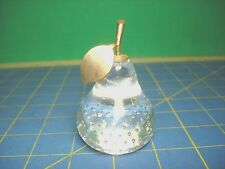 VINTAGE CRYSTAL PEAR PAPERWEIGHT VERY SMALL LOOKS OUTSTANDING
