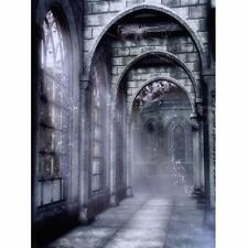 5X7FT Vinyl Retro Gloomy Castle Old Ruins Photography Background Backdrop Prop