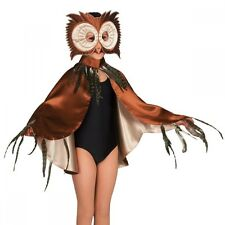 Brown Owl Cape With Mask - Animal Fancy Dress - Dance Costume