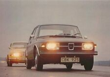 Saab 99 4-dr & 96 V4 Early 1970s Original Factory Issued Colour Sales Card