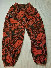 VTG 80's 90's WAVE GODS MC Hammer Pants L Muscle Beach SURF Red Black Lava Print