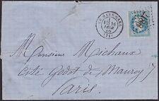 """Rare sur lettre FRANCE N°29Bb 20c Napoléon BELLE VARIETE """" à la corne """""""
