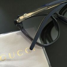 Gucci Women's Navy Blue Plastic Frame Classic Sunglasses GG3640/S 57mm Italy NWT