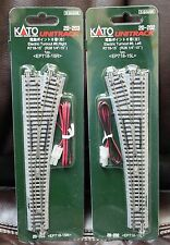 LOT of 2 - N Scale KATO UNITRACK 20-202 & 20-203 LT & RT #6 Turnouts NEW in Pack