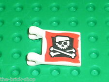 Drapeau LEGO PIRATES Flag with Jolly Roger pattern ref 2335px23 / set 7075 7071