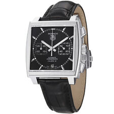 TAG HEUER MONACO AUTOMATIC CHRONOGRAPH BLACK DIAL MEN'S WATCH CAW2110.FC6177 NEW