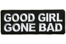 GOOD GIRL GONE BAD EMBROIDERED IRON ON BIKER PATCH