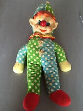 Vintage Knickerbocker Clown Elf Pixie Doll Wind Up Musical Plush 1960's 70's