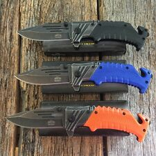 3 PC ASSORTED SET Spring Assisted Open Tactical Folding Blade Pocket Knife NIB