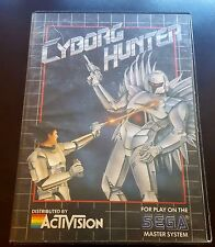 Cyborg Hunter Sega Master System SMS Activision! 100% Authentic! Cleaned! Rare!