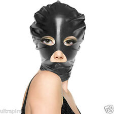 Women Men Unisex Black Sexy Fun Spandex Latex Hood Full Cover Face Mask Costume