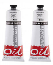 Daler Rowney Graduate Oil Colour Paint - Titanium White - 2 x 200ml Tubes
