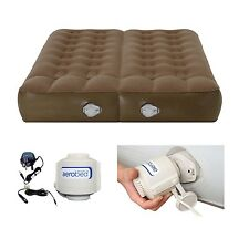 Aerobed Active plus Dual Chamber Double AirBed with 230 Volt Pump - RRP £129.99