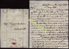 1830 BELFORD posted letter REVD Andrew Sharp, GLEBE HOUSE, BAMBURGH