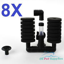 8x Bio Sponge Filter Betta Fry Aquarium Fish Tank Double Sponge (S) XY-2831