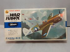 Vintage Hasegawa 1/72 P-40N War Hawk ~ U.S. Army Fighter ~ Sealed Contents