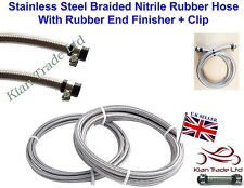 "AN6 (8MM) 5/16"" steel braided Nitrile rubber Hose fuel Pipe End finisher- 100mm"