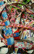 lot of 15 yds printed grosgrain ribbon character Assorted shopkins frozen minnie