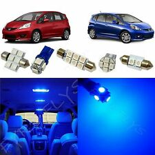 6x Blue LED lights interior package kit for 2009-2013 Honda Fit HF1B