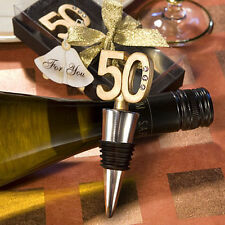 Gold 50th Wine Bottle Stopper Wedding Anniversary 50th Birthday Party Favors