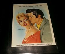 Elvis Presley & Marilyn Monroe Stamp Rare With COA 4454