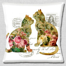 """NEW SHABBY CHIC CATS POST FRENCH COUNTRY STYLE WHITE  16"""" Pillow Cushion Cover"""