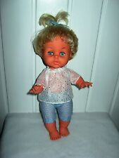 RARE VINTAGE BABY TINY TEARS DOLL WITH TOP KNOT RETRO 1970s PALITOY ENGLAND