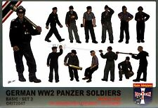 Orion 1/72 72047 WWII German Panzer Soldiers Basic/ Set 2 (39 Figures, 13 Poses)