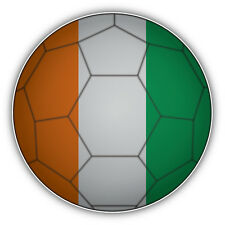 Ireland Flag Soccer Ball Car Bumper Sticker Decal 5'' x 5''