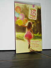 CLINTONS 18TH BIRTHDAY CARD - DAUGHTER NEW IN PACKET