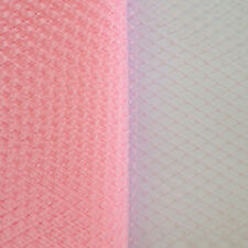 "9"" PINK RUSSIAN VEILING/NETTING - millinery, craft, wedding, hat, fascinator,art"