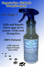 Natural Organic Flea - Tick and Mosquito Spray for Dogs with Cedar & Apple 28oz