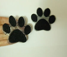 1 dog paw print patches applique iron on  sew on motif sewing embellishment