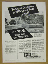 1949 Harnischfeger P&G Soil Stabilizer crowley LA project photo vintage print Ad