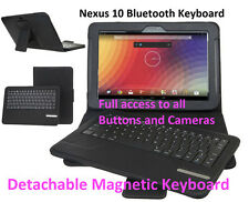 Wireless Nexus 10 Keyboard Bluetooth Case Cover Removeable Stand