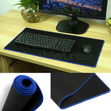 Black Rubber Large Long Computer Laptop Mouse Keyboard Desk Pad Mat 60*30cm