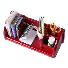 Dollhouse Miniature Furniture Book Shelf Study Room Table Organizer Rack
