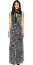 NWT $485 ALICE + OLIVIA Ramon Keyhole Tie Belt Gown Dress Sz4