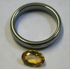 YELLOW CITRINE NATURAL LOOSE GEM 6X9MM OVAL CUT FACETED 1.2CT GEMSTONE CI34B