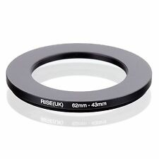 62mm-43mm 62mm to 43mm 62 - 43mm Step Down Ring Filter Adapter for Camera Lens