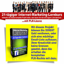 INTERNET ONLINE MARKETING LERNEN 21 Tage Crashkurs TWITTER AFFILIATE NISCHEN PLR