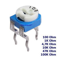10x RM065 Trimmer Trimmpoti Sortiment Auswahl 100 bis 100K Ohm Potentiometer Om