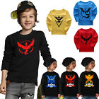 Pokemon Go Toddler Outfit Baby Kids Boy Girl Cotton Clothes T-shirt Casual Tops