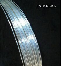 5' FEET INDIAN 925 STERLING SILVER ROUND SOFT WIRE 32 Gauge JEWELLERY MAKING