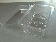20 HINGED 1lb loaf  or cake  CONTAINERS Plastic food packaging display boxes,